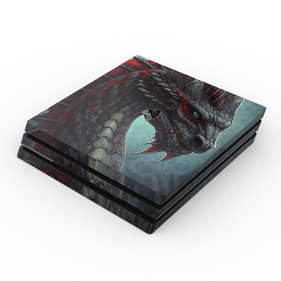 Sony PS4 Pro Skin - Black Dragon