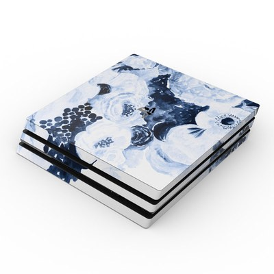 Sony PS4 Pro Skin - Blue Blooms