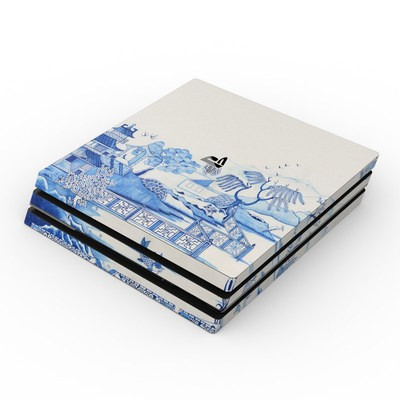 Sony PS4 Pro Skin - Blue Willow