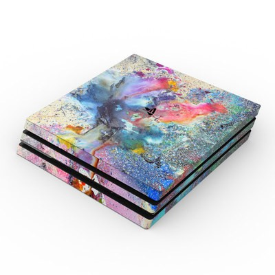 Sony PS4 Pro Skin - Cosmic Flower