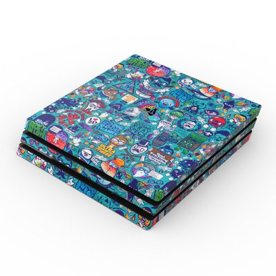 Sony PS4 Pro Skin - Cosmic Ray