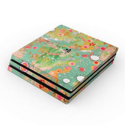 Sony PS4 Pro Skin - Feathers Flowers Showers