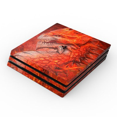 Sony PS4 Pro Skin - Flame Dragon