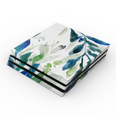 Sony PS4 Pro Skin - Floating Leaves