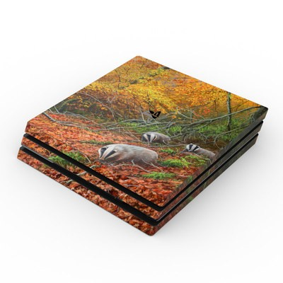Sony PS4 Pro Skin - Forest Gold