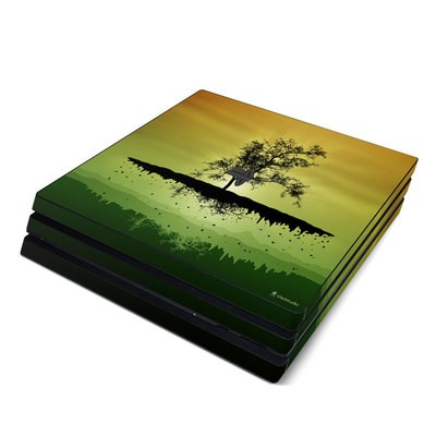 Sony PS4 Pro Skin - Flying Tree Amber