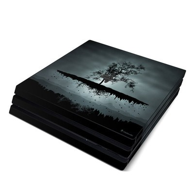 Sony PS4 Pro Skin - Flying Tree Black