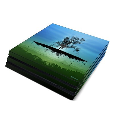 Sony PS4 Pro Skin - Flying Tree Blue