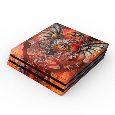 Sony PS4 Pro Skin - Furnace Dragon