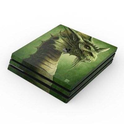 Sony PS4 Pro Skin - Green Dragon