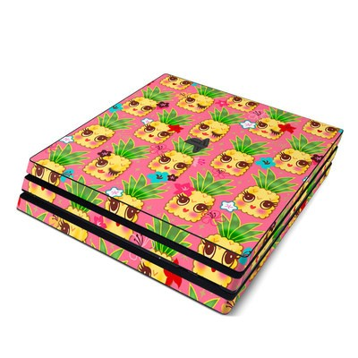 Sony PS4 Pro Skin - Happy Kawaii Pineapples