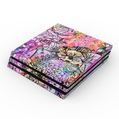 Sony PS4 Pro Skin - Hot House Flowers