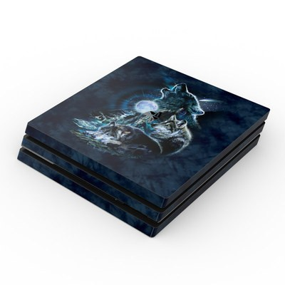 Sony PS4 Pro Skin - Howling