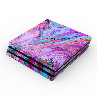 Sony PS4 Pro Skin - Marbled Lustre