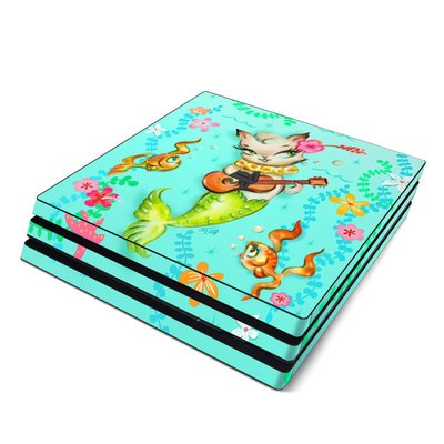 Sony PS4 Pro Skin - Merkitten with Ukelele