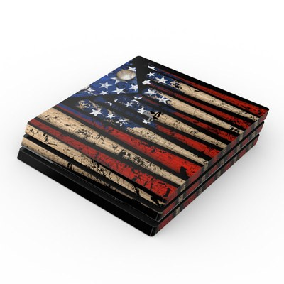 Sony PS4 Pro Skin - Old Glory