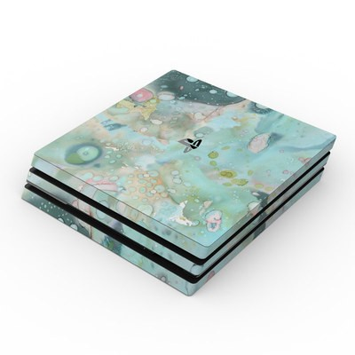 Sony PS4 Pro Skin - Organic In Blue