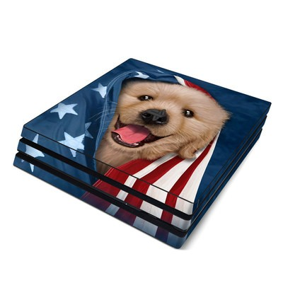 Sony PS4 Pro Skin - Patriotic Retriever