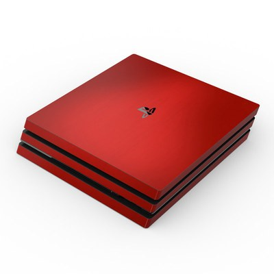 Sony PS4 Pro Skin - Red Burst