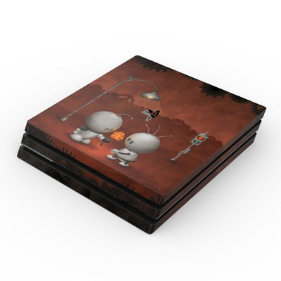 Sony PS4 Pro Skin - Robots In Love