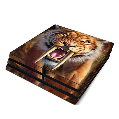 Sony PS4 Pro Skin - Sabertooth