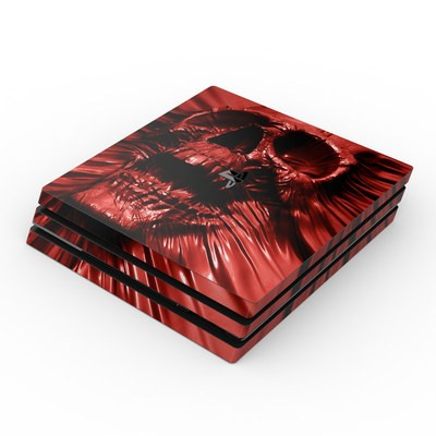 Sony PS4 Pro Skin - Skull Blood