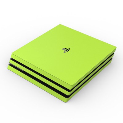 Sony PS4 Pro Skin - Solid State Lime
