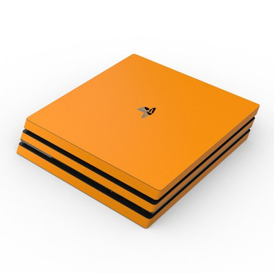 Sony PS4 Pro Skin - Solid State Orange