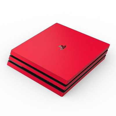 Sony PS4 Pro Skin - Solid State Red