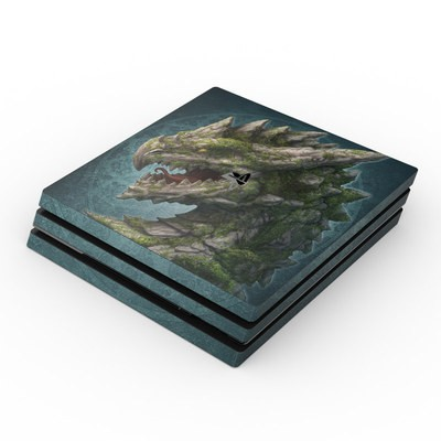 Sony PS4 Pro Skin - Stone Dragon