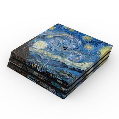 Sony PS4 Pro Skin - Starry Night