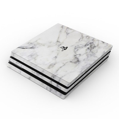 Sony PS4 Pro Skin - White Marble