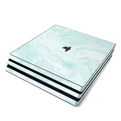 Sony PS4 Pro Skin - Winter Green Marble