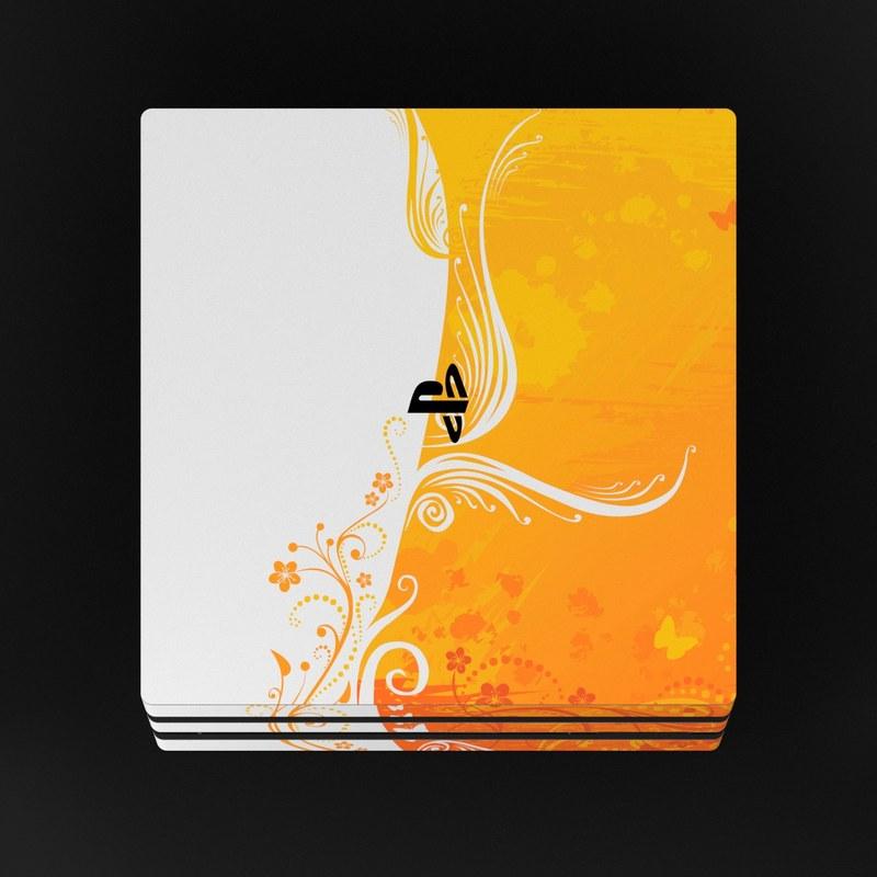 Sony PS4 Pro Skin - Orange Crush