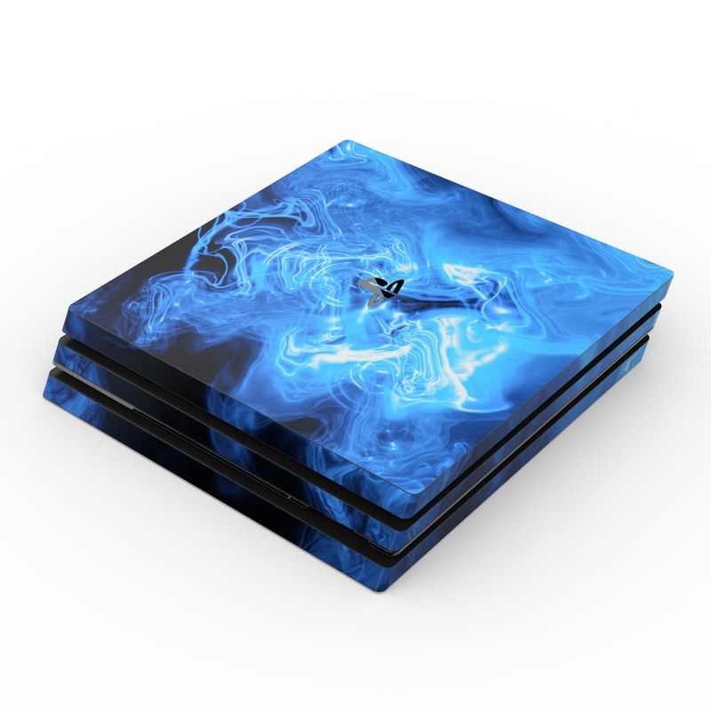 Sony Ps4 Pro Skin Blue Quantum Waves By Gaming Decalgirl