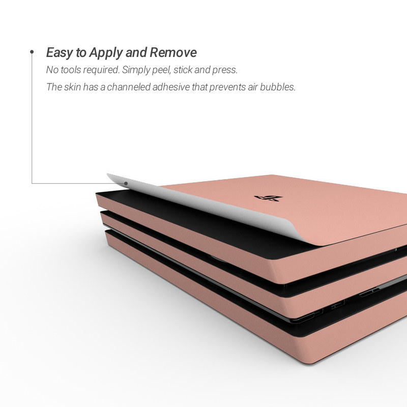 Sony PS4 Pro Skin - Solid State Peach