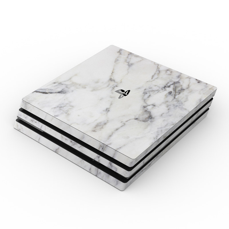 Sony Ps4 Pro Skin White Marble By Marble Collection