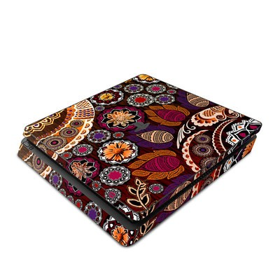 Sony PS4 Slim Skin - Autumn Mehndi
