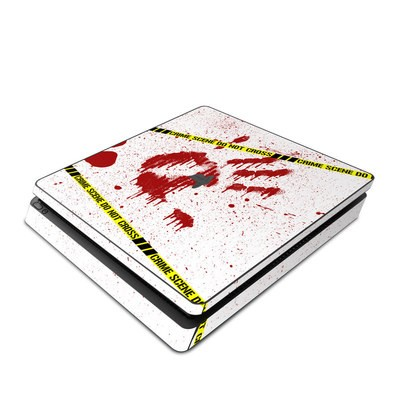 Sony PS4 Slim Skin - Crime Scene Revisited