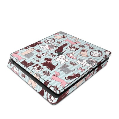 Sony PS4 Slim Skin - Doggy Boudoir