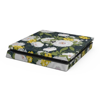 Sony PS4 Slim Skin - Fleurette Night