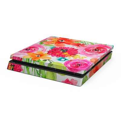 Sony PS4 Slim Skin - Floral Pop