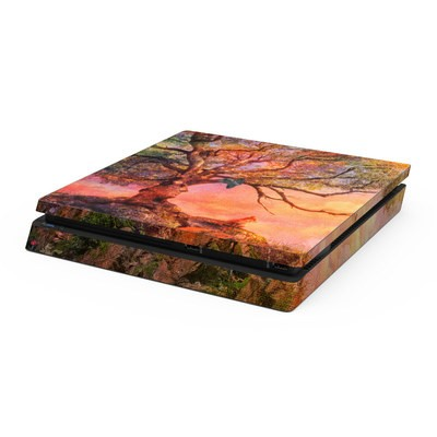 Sony PS4 Slim Skin - Fox Sunset