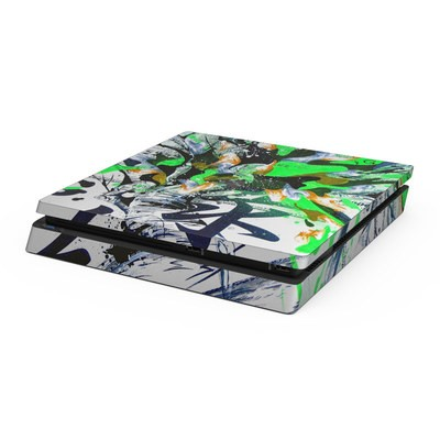 Sony PS4 Slim Skin - Green 1