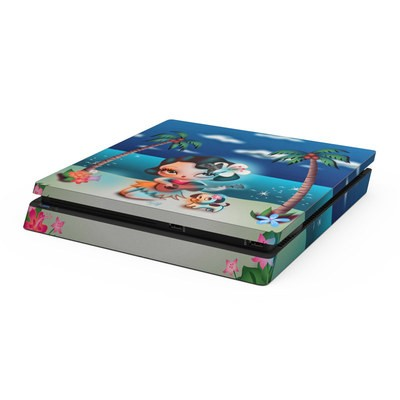 Sony PS4 Slim Skin - Hula Night