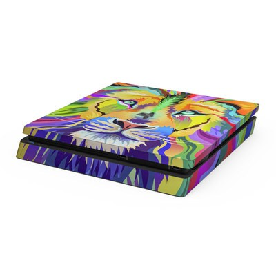 Sony PS4 Slim Skin - King of Technicolor
