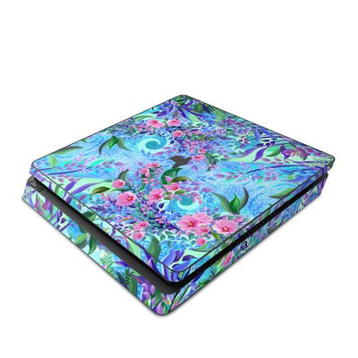 Sony PS4 Slim Skin - Lavender Flowers