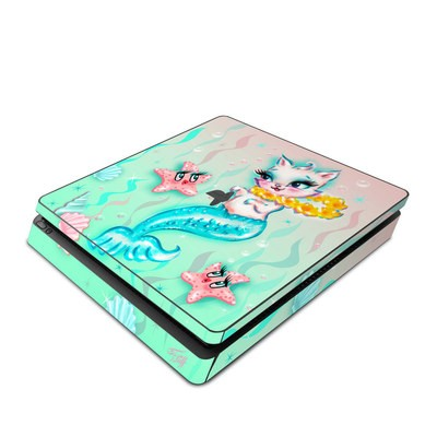 Sony PS4 Slim Skin - Merkitten with Lei