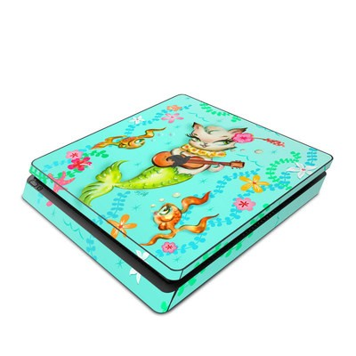 Sony PS4 Slim Skin - Merkitten with Ukelele