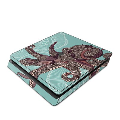 Sony PS4 Slim Skin - Octopus Bloom